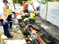 Underground Mains Being Installed for Substation Installation