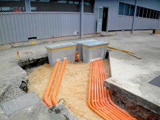 Underground Conduits for New Mains from Substation to New Factory Main Switchboard